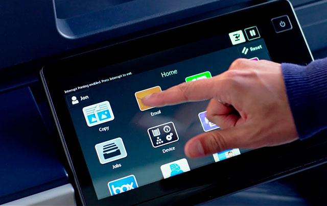 outsourcing de impressão inteligente - Interface Impressora Apps
